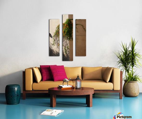 Wall Vines on Edge Canvas print