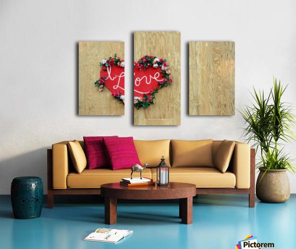 I Love Heart Canvas print