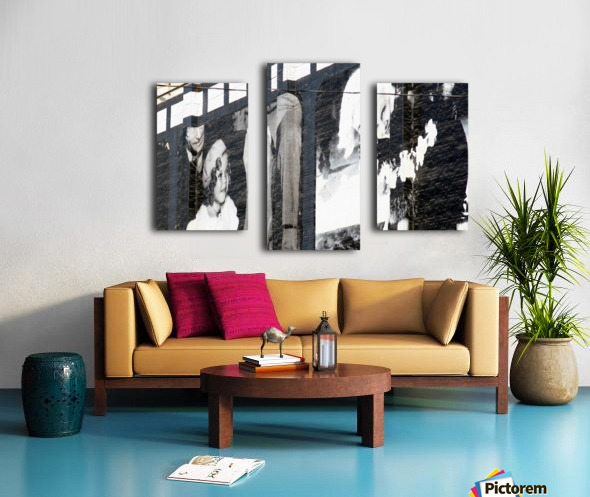 Wall with Shirley and Mae Canvas print