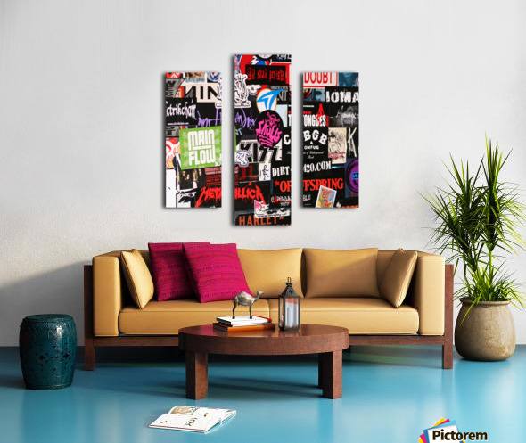 Rock & Roll Stickers Canvas print
