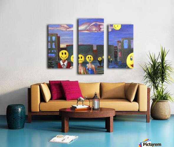 homo smilikus Canvas print
