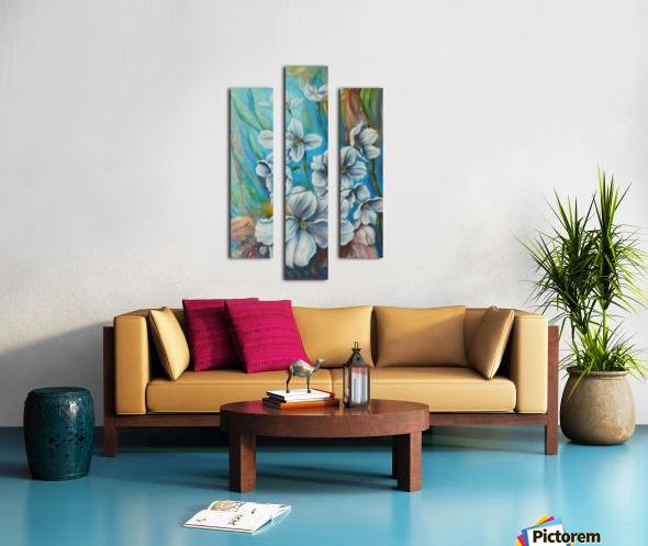 White color Canvas print