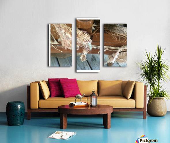 Chair & Caterpiller Canvas print