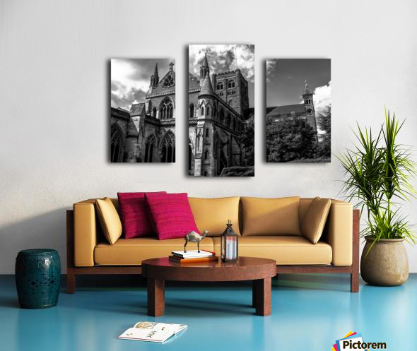 Cathedral   - Black and White image Canvas print