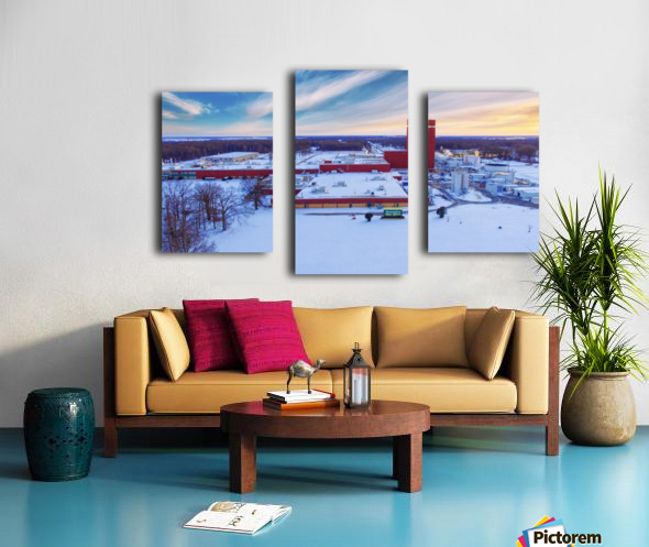 Lonoke, AR | Remington Winter Canvas print