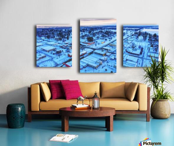 Lonoke, AR | Snowday! Canvas print