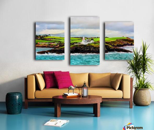 Lighthouse Cobh Ireland Paint effect Canvas print