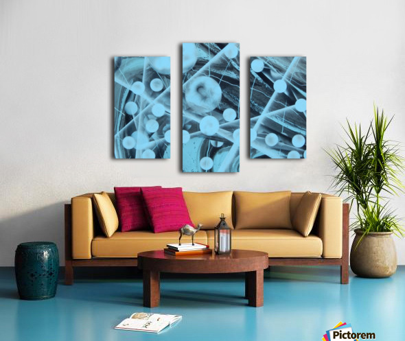 ATOMIC BLUE Canvas print