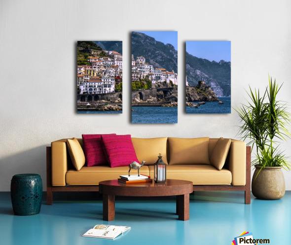 Artistic Amalfi Coast Landscape Canvas print