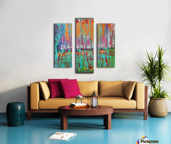 Three Ring Circus a Colorful Abstract Painting Canvas print