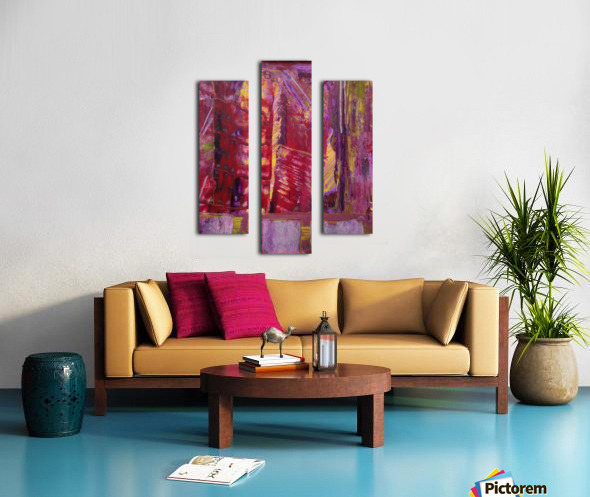 Change is Inevitable Abstract Painting Canvas print