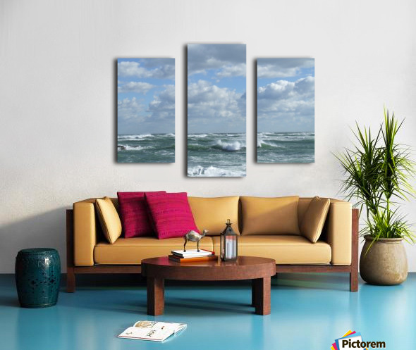 Clouds and Big waves  Newport RI.  Canvas print