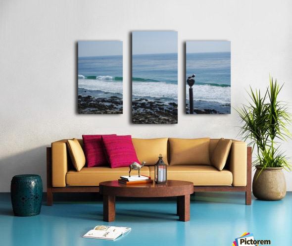 Dana Point Deserted Beach Scene Canvas print