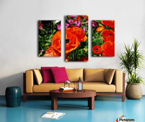 Garden with Flowers Canvas print