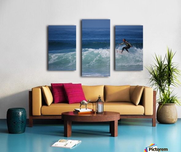 Surfer In California Canvas print