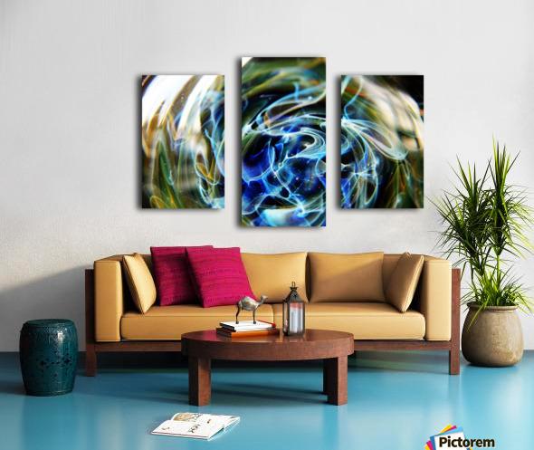 GalaxyInGlassV002 Canvas print