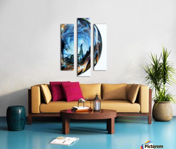 ReflectionInGlassH001 Canvas print