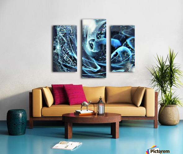 GalaxyInGlassC001 Canvas print
