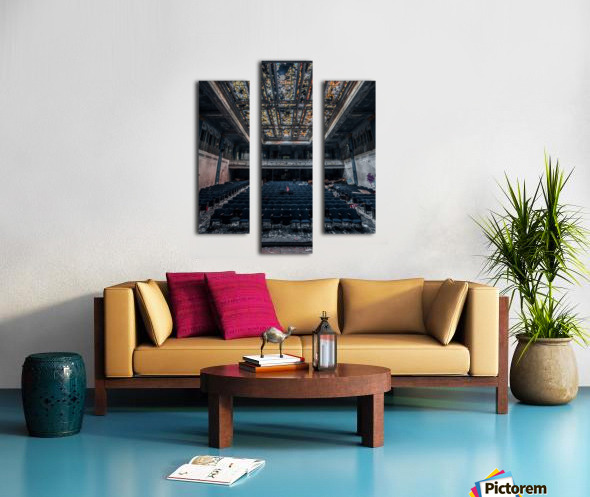 Decaying Blue Auditorium Canvas print