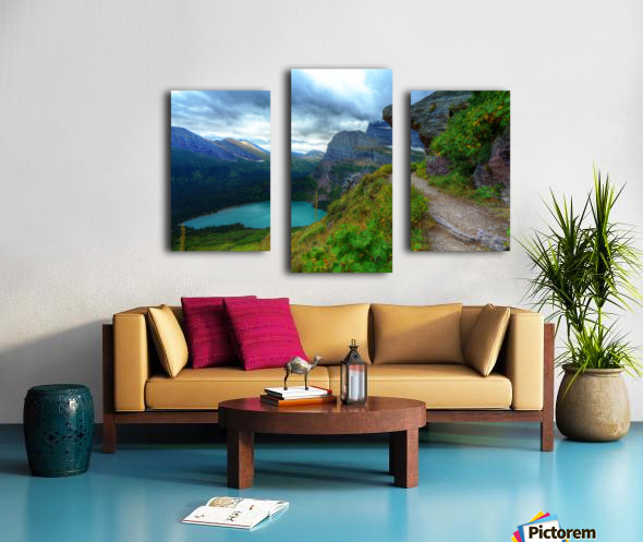 51 -2 Trail to Grinnell Glacier Canvas print
