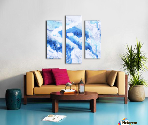 blue abstract marble Canvas print
