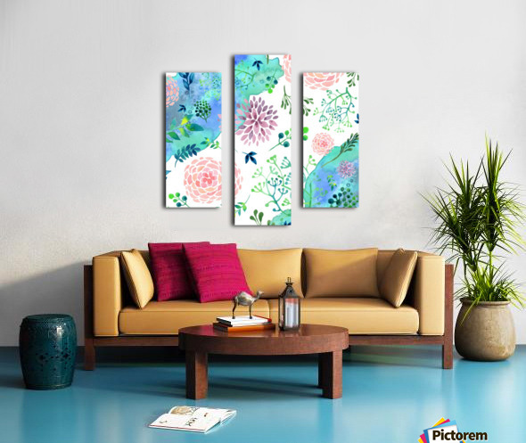 flower and blue agate Canvas print