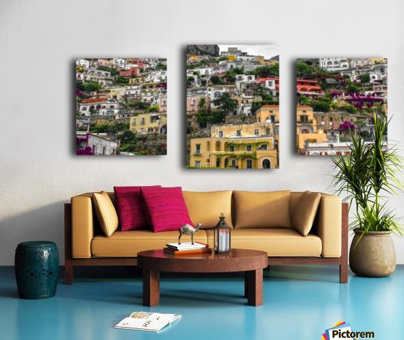 Positan village -  colourful houses Canvas print