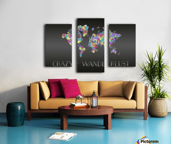 Graphic Art CRAZY WANDERLUST | Splashes Canvas print