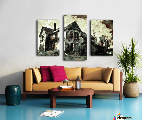 Haunted candy house Canvas print