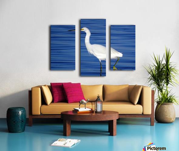 Heron White Walking Canvas print