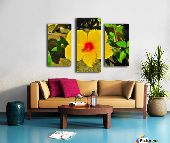 yellow & red Canvas print