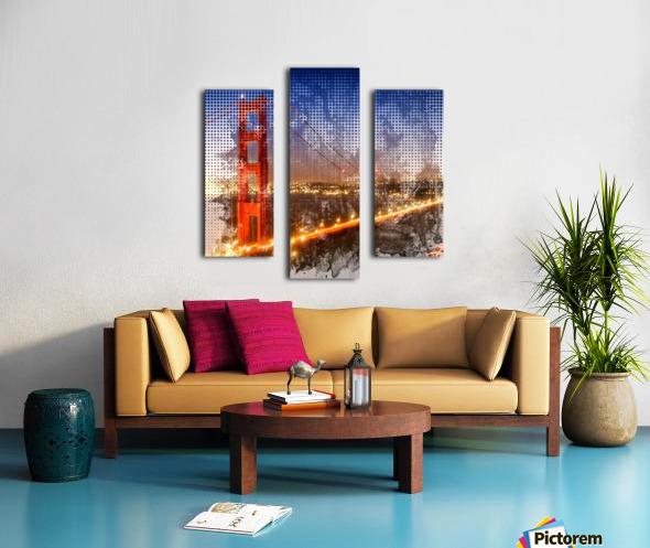 Graphic Art Golden Gate Bridge | watercolour style Canvas print