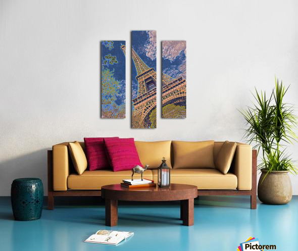 Eiffel Tower- Abstract Canvas print