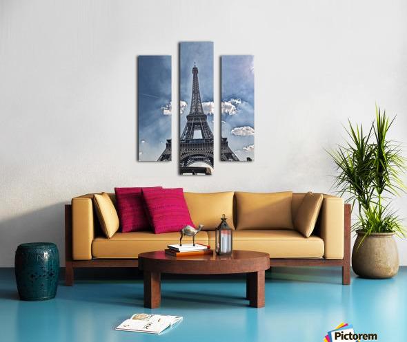 Sky & Eiffel Canvas print