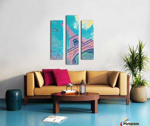 Eiffel Tower- Teal Canvas print