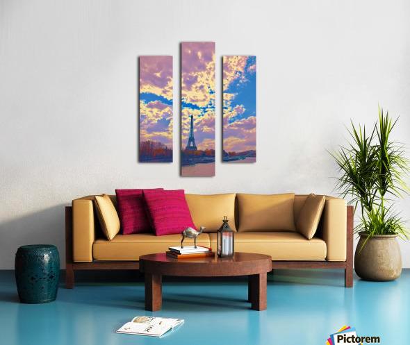 River & Eiffel  Canvas print