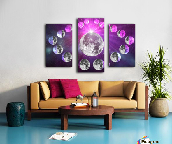 Multi-phase Moonlight Canvas print