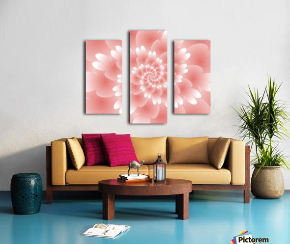 Shiny Orange Floral Art - Rizwana Khan Canvas