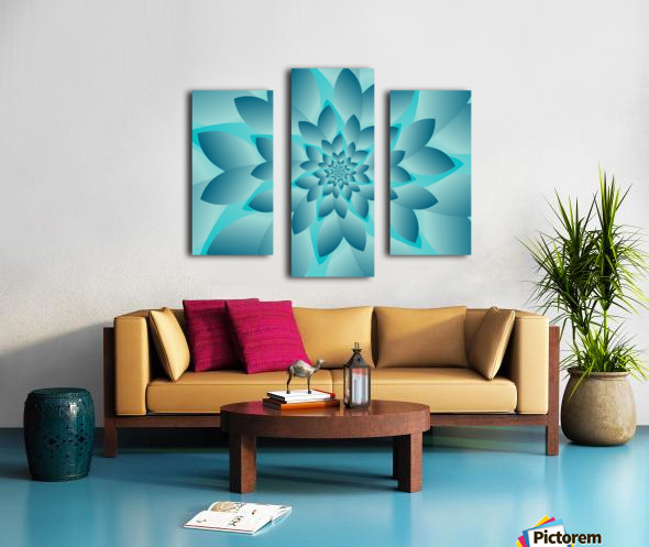 Modern Optical Illusion Floral Art Canvas print