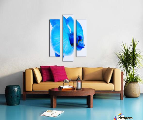 ORCHIDÉE BLEUE Canvas print