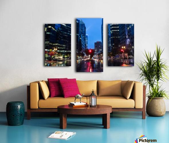 Pluie au centre ville Canvas print