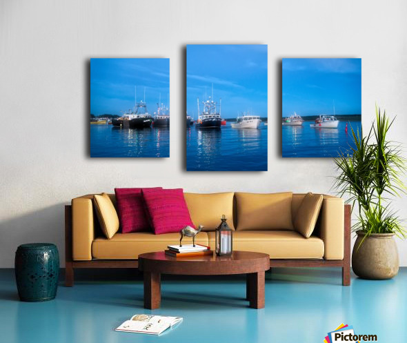 The Line Up Canvas print