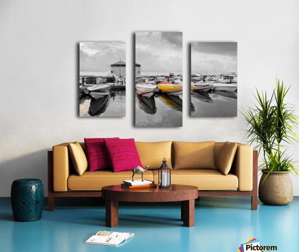 Cigarette Boats Canvas print