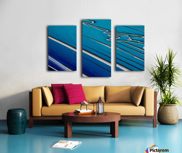 Diagonally Blue Canvas print