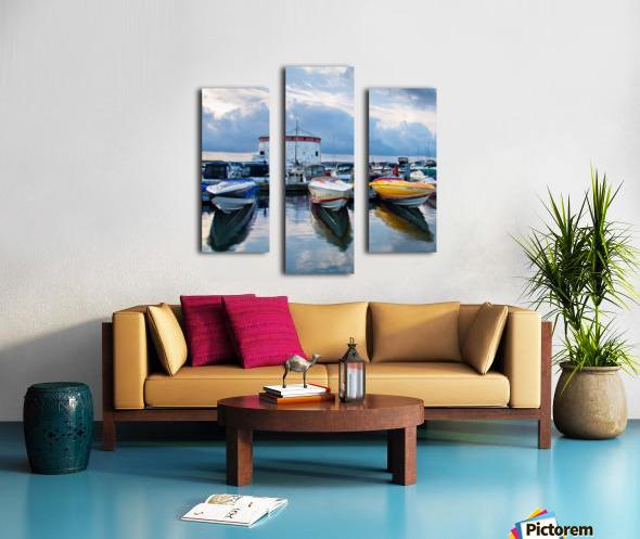 Dawn at the Marina Canvas print