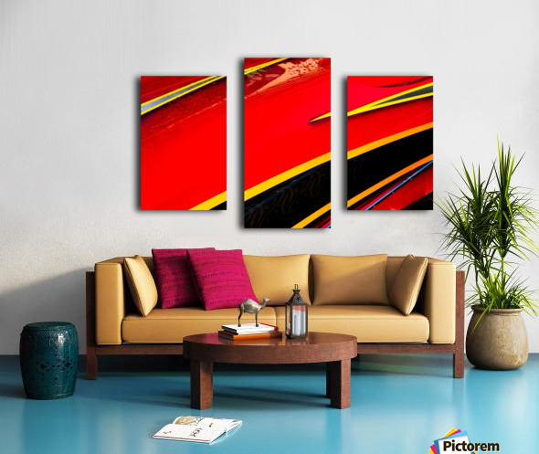Angled Canvas print
