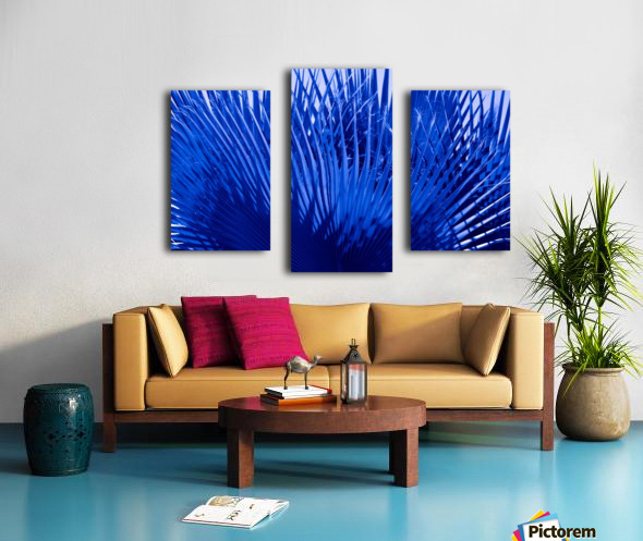 Blue Palms Canvas print