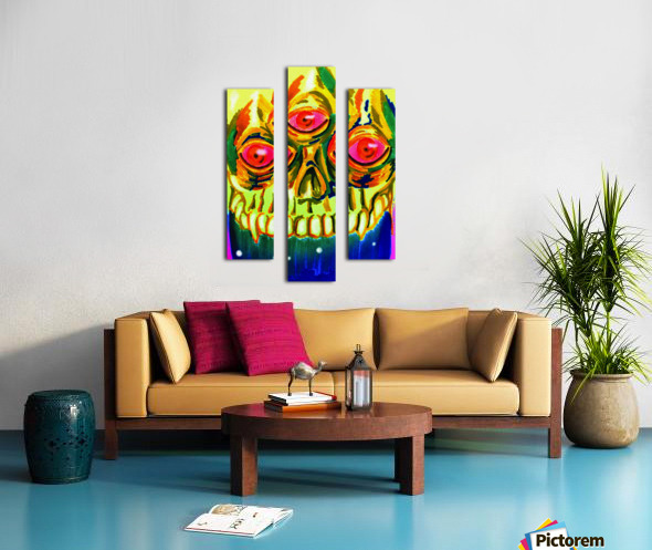 Three eyed skull painting Canvas print