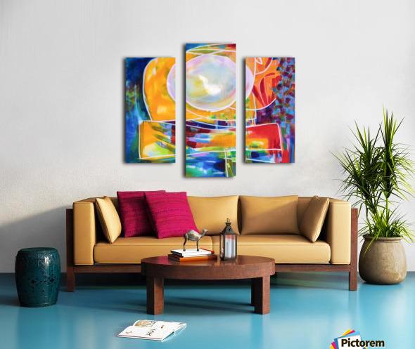 Moon Swoosh Canvas print