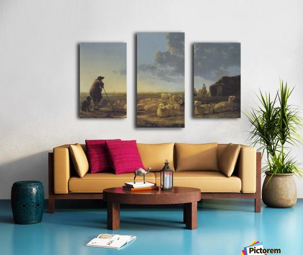 Schafherde auf der Weide Canvas print